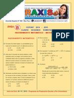 Area B - Raz. Matematico y Matematicas