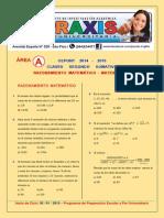 Area A - Raz. Matematico y Matematicas