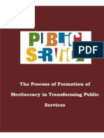 The Process of Formation of Meritocracy in Transforming Public Services