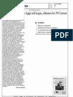Referendum contro la legge sull'acqua, alleanza fra 39 comuni (07/10/2007)