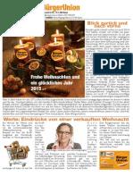 Bürgerblatt der BürgerUnion Nr. 3/2014