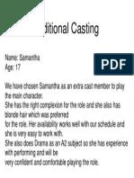 Additional Casting