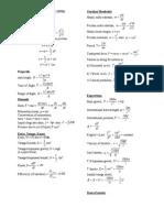 Senarai Formula Fizik P1