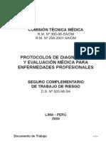 PROTOCOLOS DE DIAGNÓSTICO Y EVALUACIÓN MÉDICA PARA ENFERMEDADES PROFESIONALES