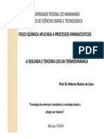 Termodinâmica e Termoquímica II