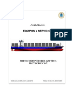 08. Machinery and Outfitting - Equipos y Servicios. Portacontenedores de 2650 TEUs.