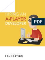 Hiring an a Player Developer(Foundation)