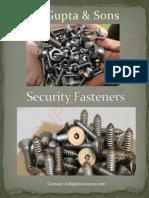 Forward Security One Way Screw Round Head Machine Screw
