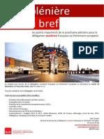 Briefing de plénière - Décembre 2014