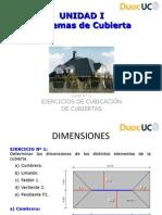 Cubicación de  Cubiertas.