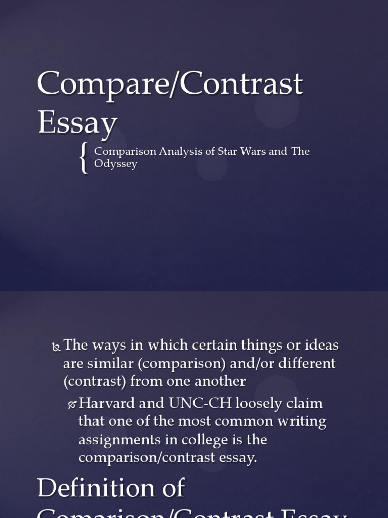 compare and contrast essay on odyssey
