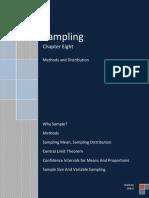 Sampling, Methods and Distribution