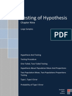 Testing of Hypothesis, Large Samples