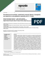 Prevalencia de Escoliosis, Dominancia Manual Lateral y Transporte de Material en Una Población Masculina de 6–12 Años
