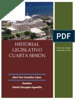 Informe Legislativo 4ta sesión hasta 11/2014