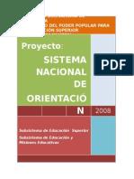 VENEZUELA Sistema Nacional de Orientacion0409