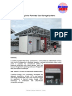 Solar Powered Cold Storage System