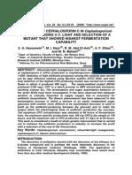Cephalosporin C Using UV