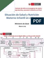 Situacion de Salud y Nutricion Materno Infantil en El Peru
