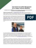 The Mandell Gisnet Center for Conflict Management Awarded