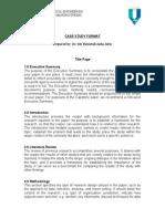 Case Study Format Srai