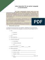 Cuestionario sobre inserción TIC en sector Lenguaje y Comunicación_word_2003