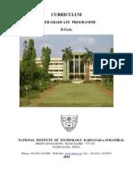NITK UG Curriculum 2014-1