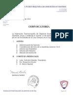 2014 Covocatoria Asamblea Anual- ENERO 2015