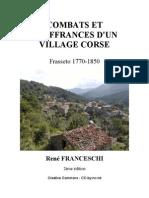 Combats et souffrances d'un village corse