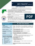 Info-TRACEESS numéro 16, le 15 décembre 2014