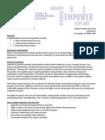 EIS Fieldwork Intern Position 2014-15