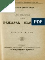 MC0039779. Los Orígenes de Las Familias Chilenas (3 Tomos)