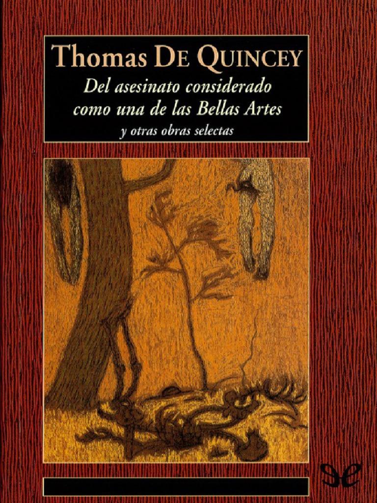 Del Asesinato Considerado Como Una de Las Bellas Artes de Thomas de ...