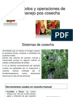 Métodos y Operaciones de Manejo Pos Cosecha