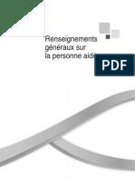 """Guide pour proches aidants-Annexe """"Renseigements généraux sur la personne aidée"""""""
