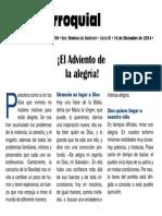 Hoja Parroquial 2014-12-14 No.50