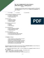 9 Teste FRANCEZA Gen, Jur, Afaceri