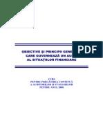 Obiective Si Principii Generale Care Guverneaza Un Audit Al Situatiilor Financiare