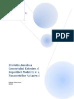 Evolutia Anuala a Comertului Exterior Al Republicii Moldova Si a Parametrilor Adiacenti in Perioada Anilor 1993-2012