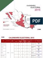 Calendario Electoral 2015 INE
