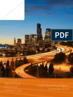 Monitor's 4th semiannual report on Seattle PD reforms
