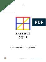 Zatehué Artists Association Calendario 2015  Asociación de Artistas Zatehué
