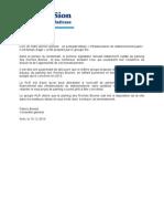 Amendement Parking Roches Brunes