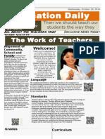 newspaper the work of teachers