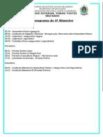 Cronograma 4º bimestre