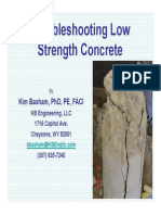 2014-01-07 NCSEA Troubleshooting Low Strength Concrete