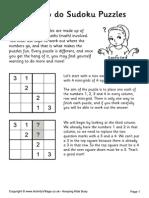how to do sudoku puzzles