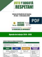 Informe Rendición de Cuentas Angélica Lozano