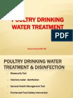 Calidad Del Agua en Alimentacion Avicola Ahmad