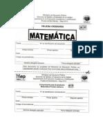 Matemática Bachillerato MEP Prueba Mayo 2012